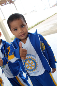 Rotary school kid in Brazil